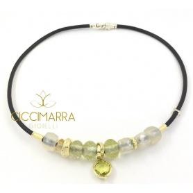 Misani Matera Kollektion Halskette mit Mondstein und Zitronenquarz