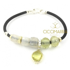 Matera collection Misani bracelet with Moonstone and Lemon Quartz