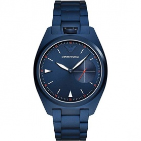 Emporio Armani watch only time blue quartz - AR11309