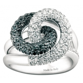 Salvini Armonia S ring with white and black diamonds 20029251