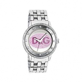 Orologio D&G Prime Time in acciaio logo glitter -  DW0848