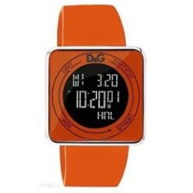 D & G digitale orange Silikonuhr - DW0738