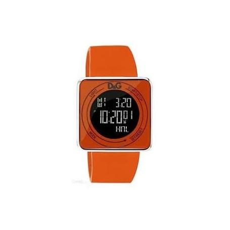D&G digital orange silicone watch - DW0738