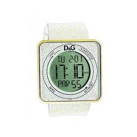 D & G digitale weiße Silikonuhr - DW0783