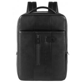 Piquadro Urban schwarzer schlanker Laptop-Rucksack - CA4840UB00 / N.