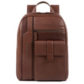 Backpack for PC Piquadro Kobe dark brown - CA4943S105 / TM