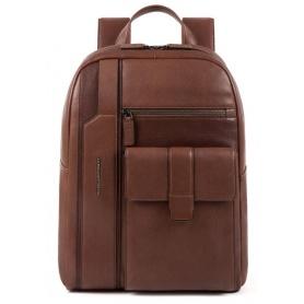 Rucksack für PC Piquadro Kobe dunkelbraun - CA4943S105 / TM