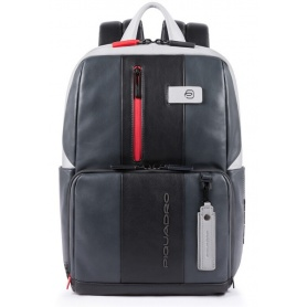 Laptop backpack Piquadro BagMotic gray and black CA3214UB00BM / GRN