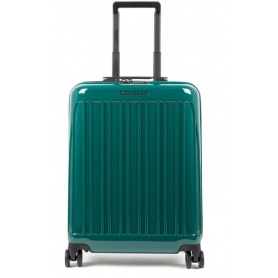 Cabin trolley Piquadro rigid ultra slim Seeker green BV5027SK70 / VE