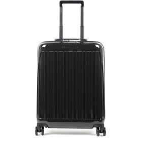 Cabin trolley Piquadro rigid ultra slim Seeker black BV5027SK70 / N