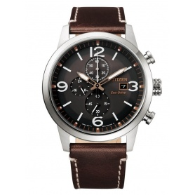 Citizen Urban men's solar watch brown leather - CA0740-14H