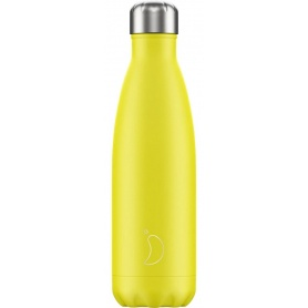 500ml Chilly's Bottle Yellow Neon - 5056243500390
