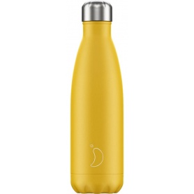 500ml Chilly's Bottle Yellow Matte - 5056243500130