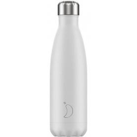 500ml Chilly's Bottle White Mono - 5056243500307