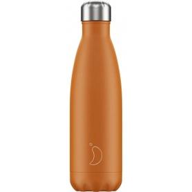 500ml Chilly's Bottle Orange Matte - 5056243500109