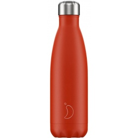 500ml Chilly's Bottle Neon Red - 5056243523610