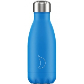 260 ml Chilly's Bottle Neon Blue - 5056243501212