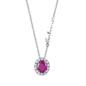Salvini Dora necklace with Ruby and Brilliants, in white gold