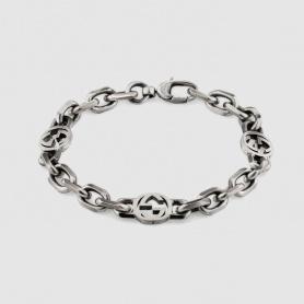Bracciale Gucci unisex con catena e doppia G