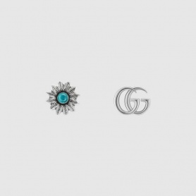 Gucci women's earrings with flower and double G