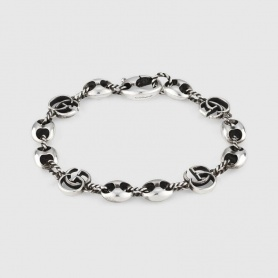 Gucci unisex chain and double G bracelet