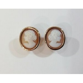 Cameo Italiano lobe earrings in rosé silver