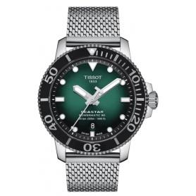 Orologio Tissot Seastar Powermatic verde acciaio T1204071109100