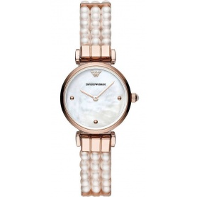 Emporio Armani women's watch with pearl bracelet - AR11317
