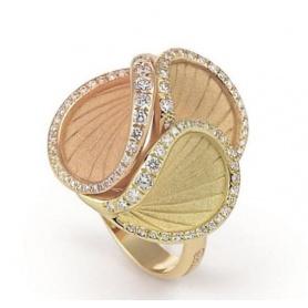 Annamaria Cammilli Musa ring in gold and brilliant - GAN2523J