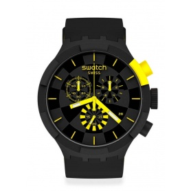 Swatch Big Bold Chrono checkpoint yellow SB02B403