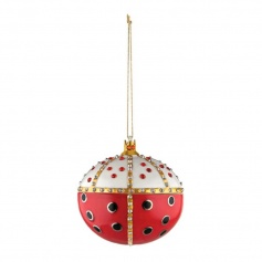 Christmas tree decoration ball Alessi Re ladybird - MJ168