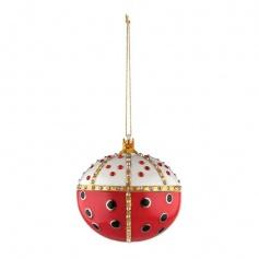 Christmas tree decoration ball Alessi Re ladybird - MJ168