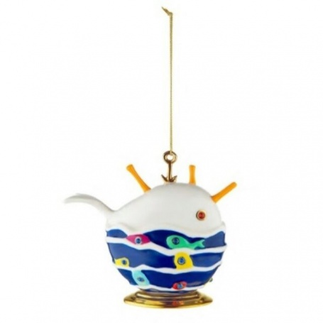 Christmas tree decoration ball Alessi Bianca the good whale