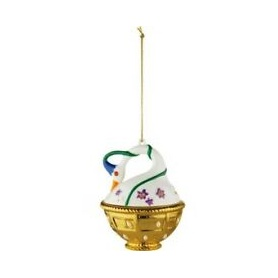 Christmas tree decoration ball Alessi Spring swan - MJ1610