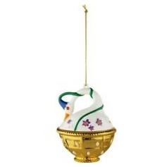 Christmas tree decoration ball Alessi Spring swan - MJ1610
