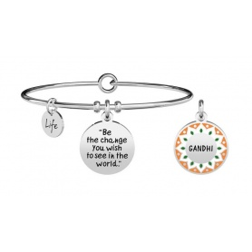 Kidult bracelet be the change you wish .. gandhi 731884