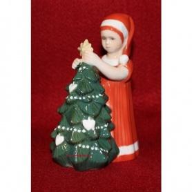 Statuina Natalizia Elsa bambina con albero Royal rosso