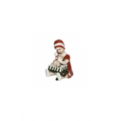 Elsa Christmas figurine girl with Royal red gift
