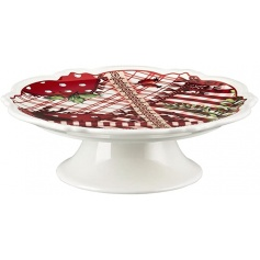 Porcelain Hutschenreuther Christmas cake stand - 08460/725650/12825