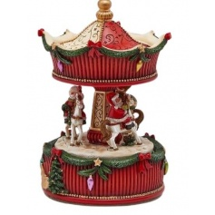 Christmas carousel music box Edg 17cm decorative object