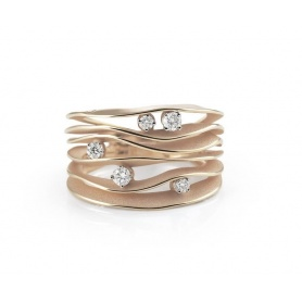 Annamaria Cammilli Dune ring in champage pink gold GAN0914P