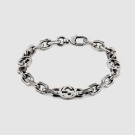 Gucci unisex bracelet with chain and double G