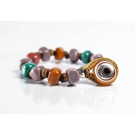 Moi Picardia bracelet with unisex multicolored glass beads