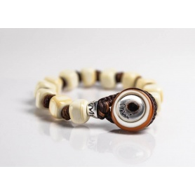 Moi Duna bracelet with unisex sand glass beads