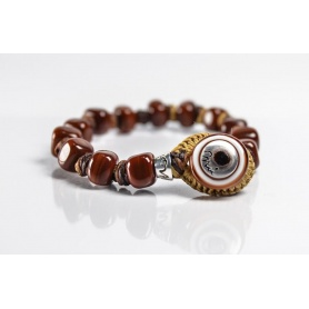 Moi Cocoa bracelet with unisex chocolate brown glass beads