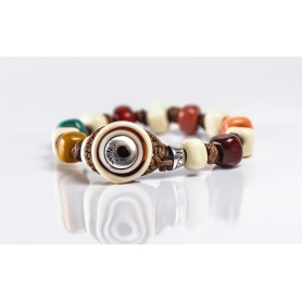 Moi Caicco bracelet with unisex multicolored glass beads