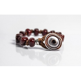 Moi Bordeaux bracelet with unisex bordeaux glass beads