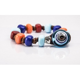 Moi Africo bracelet with unisex multicolored glass beads