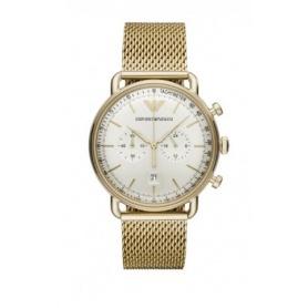 Emporio Armani men's Aviator Chrono gold watch AR11315