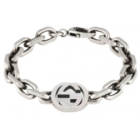 Gucci unisex chain bracelet with logo - YBA627068001018